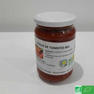 Coulis de tomates bio - GAEC vers les Champs