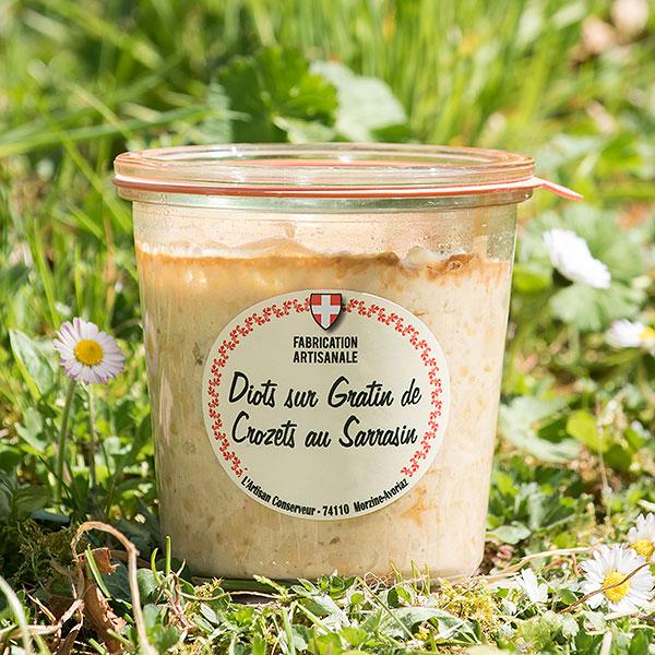 Diots poêlés sur gratin de crozets - Les Délices d'Alpage