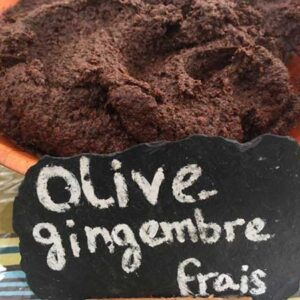 Olive noire gingembre frais - Olivade de Valérie