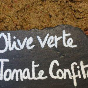 olive verte tomate confite