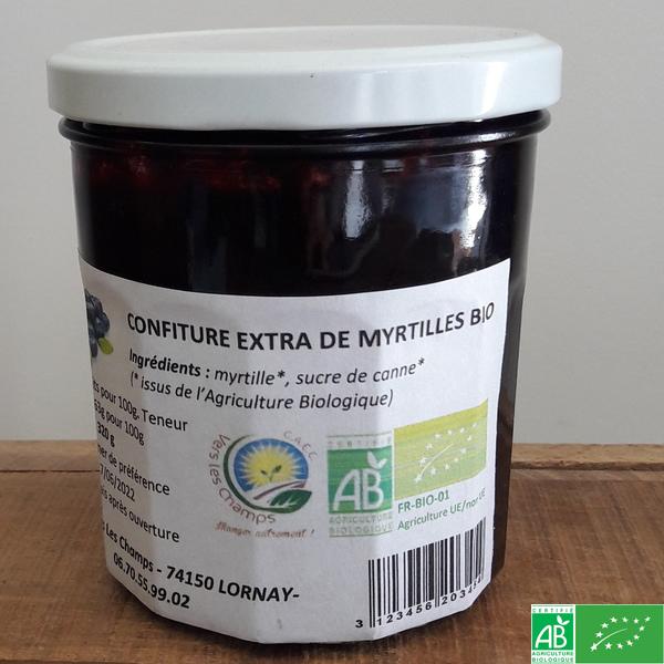 confiture de myrtilles bio
