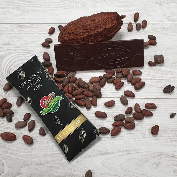 Tablette chocolat au lait 55 de cacao