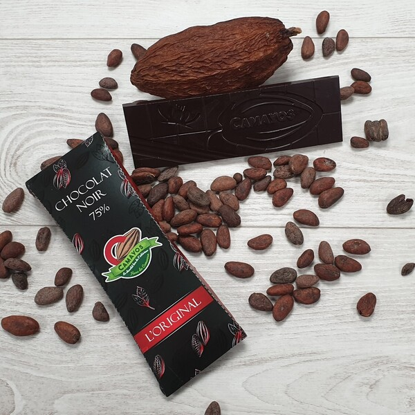 Tablette chocolat noir 75 de cacao